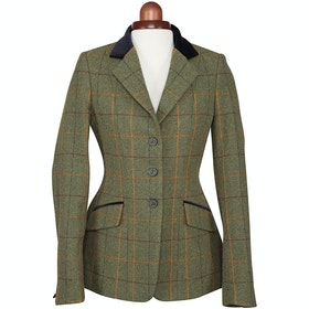 Shires Aubrion Saratoga Childrens Competition Tweed Jacket - Red Yellow Blue Check