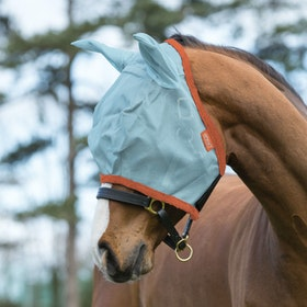 Amigo Durable Fly Mask - Aqua Orange