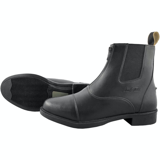 Mark Todd Synthetic Zip Front Jodhpur Boots