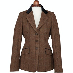 Shires Aubrion Saratoga Childrens Competition Tweed Jacket - Brown Herringbone Check