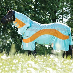 Amigo Vamoose Evolution Fly Rug - Aqua Orange Aqua