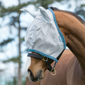 Amigo Durable Fly Mask - Silver Dark Grey