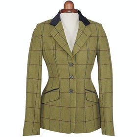 Shires Aubrion Saratoga Childrens Competition Tweed Jacket - Navy Maroon Check