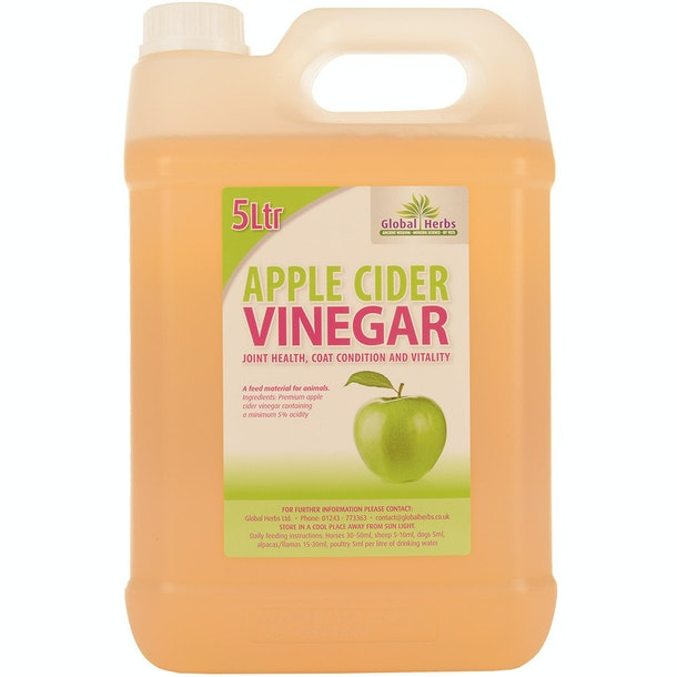 Global Herbs Apple Cider Vinegar 5 Litre Health Supplement