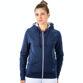 Mark Todd Fleece Lined Ladies Zip Hoody - Navy