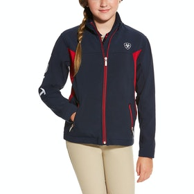 Ariat New Team Kinder Softshell-Jacke - Navy Red