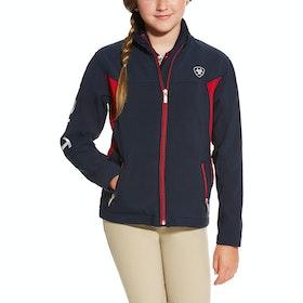 Ariat New Team Childrens Softshell Jacket - Navy Red