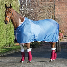 Shires Tempest Original Mesh Cooler Rug - Royal Pink Grey