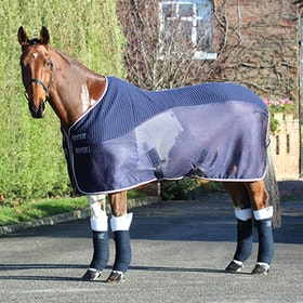 Shires Tempest Original Tech Mesh Cooler Rug - Navy Red Grey