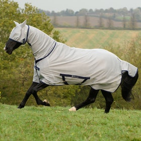 Bucas Freedom Pony Full Neck Fly Rug - Silver