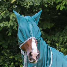 Bucas Freedom Fly Mask - Mallard Green