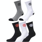 Element High Rise 5 Pack Fashion Socks