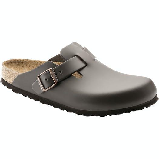 Birkenstock Boston Smooth Leather Slip On Shoes