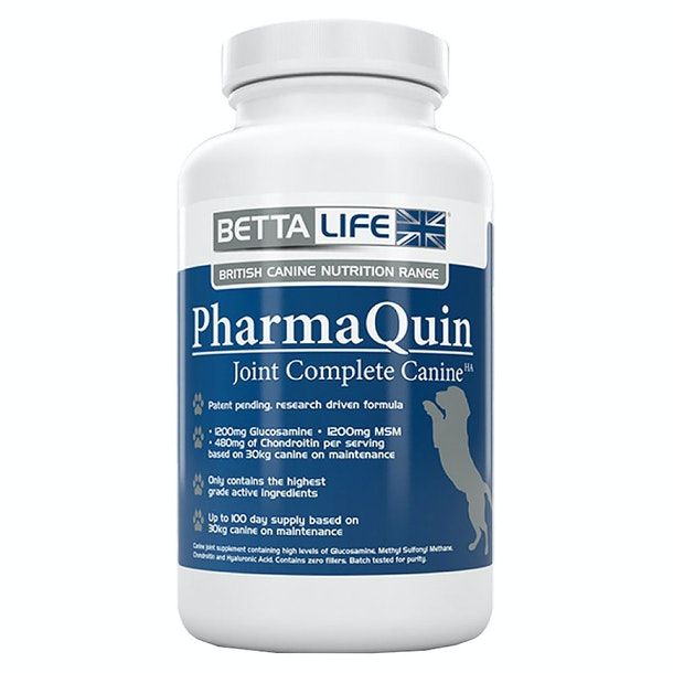 BettaLife Pharmaquin Joint Complete HA Canine Dog Supplement