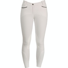 Horseware Woven Self Seat Ladies Riding Breeches - White