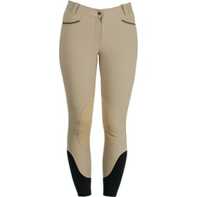 Horseware Woven Self Seat Ladies Riding Breeches - Beige