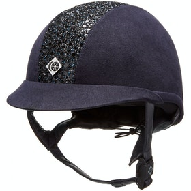 Charles Owen ASTM eLumenAyr Round Fit Riding Hat - Navy Sparkly