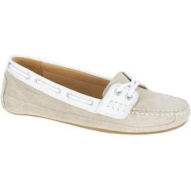 Sebago Bala , Dress Shoes - Beige Taupe Suede White Leather