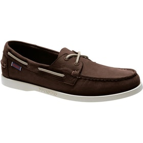 Sebago Dockside Portland , Dress Shoes - Dark Brown Nubuck