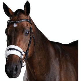 Collegiate ComFiTec Sheepskin Snaffle Bridle - Black