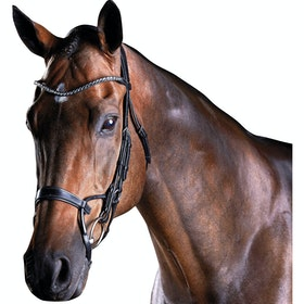 Collegiate ComFiTec Crystal Snaffle Bridle - Black