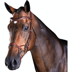 Collegiate ComFiTec Training Snaffle Bridle - Brown
