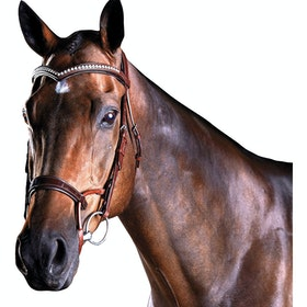 Collegiate ComFiTec Patent Snaffle Bridle - Brown