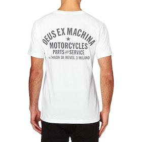 T-Shirt a Manica Corta Deus Ex Machina Milano Address - White