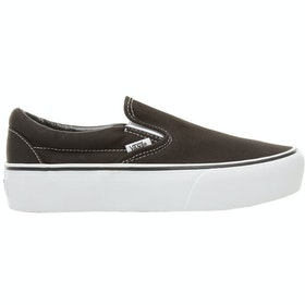 Vans Classic Platform Ladies Slip On Trainers - Black