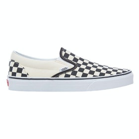 Vans Classic Platform Ladies Slip On Trainers - Black Cream Checker