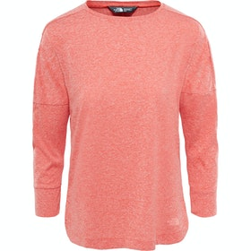 North Face Inlux Three Quarter Ladies Long Sleeve T-Shirt - Fire Brick Red Heather