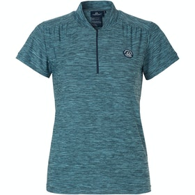 Mountain Horse Sky Tech Ladies Short Sleeve T-Shirt - Blue Melange