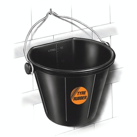 Red Gorilla Flat Back Bucket Flexible Tub - Black