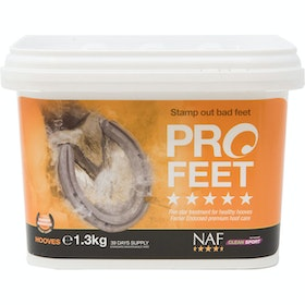 NAF Pro Feet Powder 1.3kg Hoof Supplement - Clear