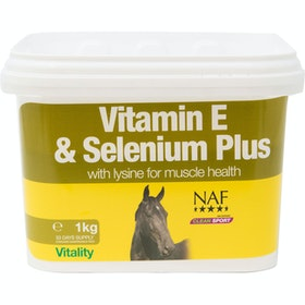 NAF Vitamin E Selenium Plus 1kg Performance Supplement - Clear