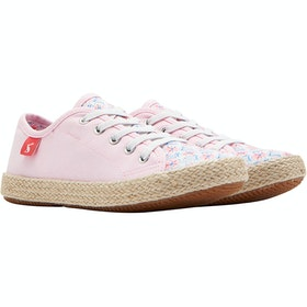 Joules Girls Lace Up Childrens Espadrilles - Cream Summer Mosaic