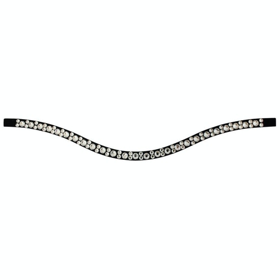 Stubben Magic Tack Long Curved Mixed Inlay Brow Band