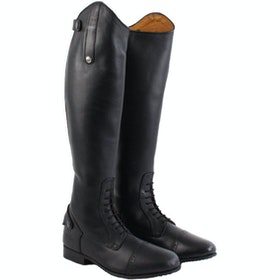 Mark Todd Long Leather Competition Field Long Riding Boots - Black