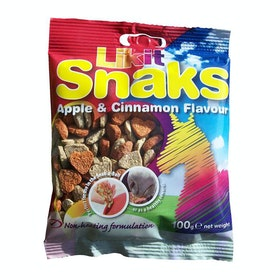 Likit Snaks Apple and Cinnamon Horse Treats - Clear