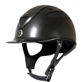 Gatehouse Conquest MKII Metallic Finish Riding Hat - Black