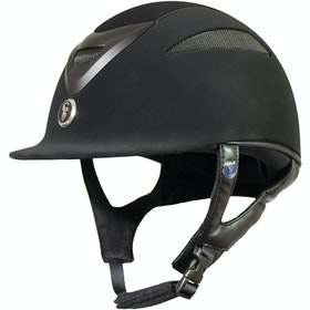 Gatehouse Conquest MKII Suedette Finish Riding Hat - Black