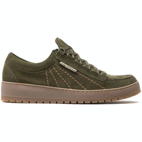 Mephisto Rainbow Velours Trainers - Loden Gum