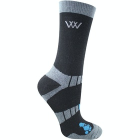 Woof Wear Bamboo Short Waffle Riding Socks - Black