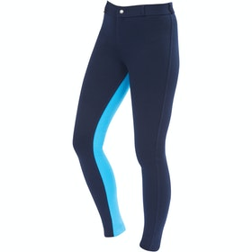 Saxon Warm Up Cotton Euro Seat II , Jodhpurs Kvinner - Navy Aqua