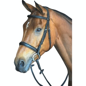 Collegiate Comfort Crown Padded Raised Cavesson Snaffle Bridle - Black