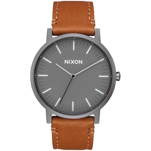 Nixon Porter Leather Horloge