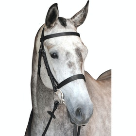 Collegiate Hunt Cavesson IV Snaffle Bridle - Black