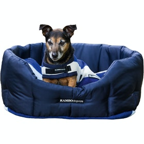 Rambo Deluxe Hundebett - Navy with Whitney Navy