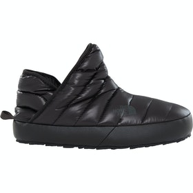 North Face Thermoball Traction Bootie Damen Pantoffeln - Shiny TNF Black