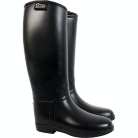 Shires Waterproof Rubber Ladies Long Riding Boots - Black